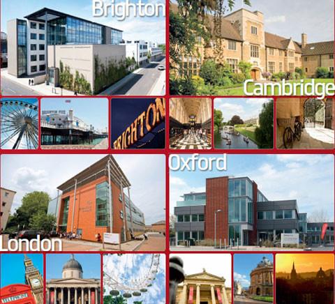 Bellerbys College với các cơ sở ở Brighton, Cambridge, Oxford và London.