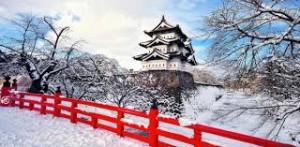 nhật bản mùa tuyết rơi